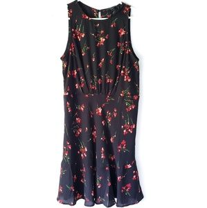 J. Crew | Sleeveless Black Floral Dress